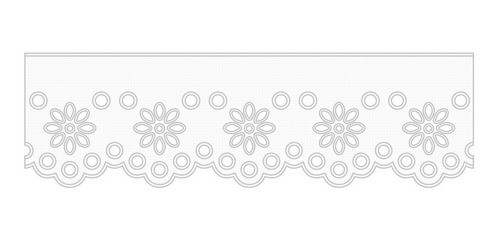 1020 Bordado Inglês 4,8cm X 10m KIT c/10un Branco PAM  - Baby Sonic Aviamentos