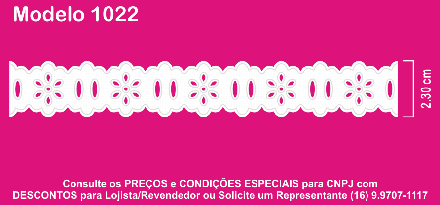 1022 Passa Fita 2,3cm X 10m