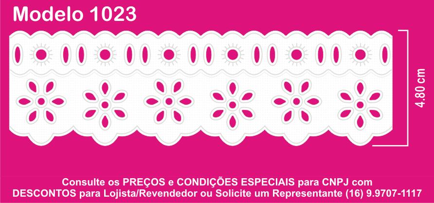 1023 Bord. Inglês c/P.F. 4,8cm X 10m KIT c/10un Branco PAM