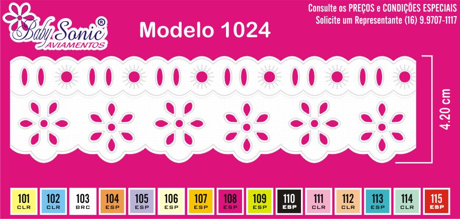 1024 Bord. Inglês c/P.F. 4,2cm X 10m