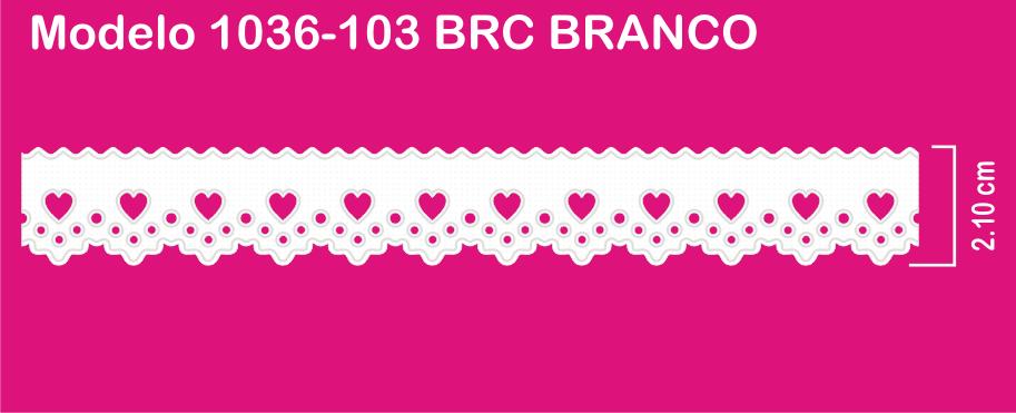 1036-103 PAM Bordado Sonic 2,10cm X 10m c/10un BRC BRANCO  - Baby Sonic Aviamentos