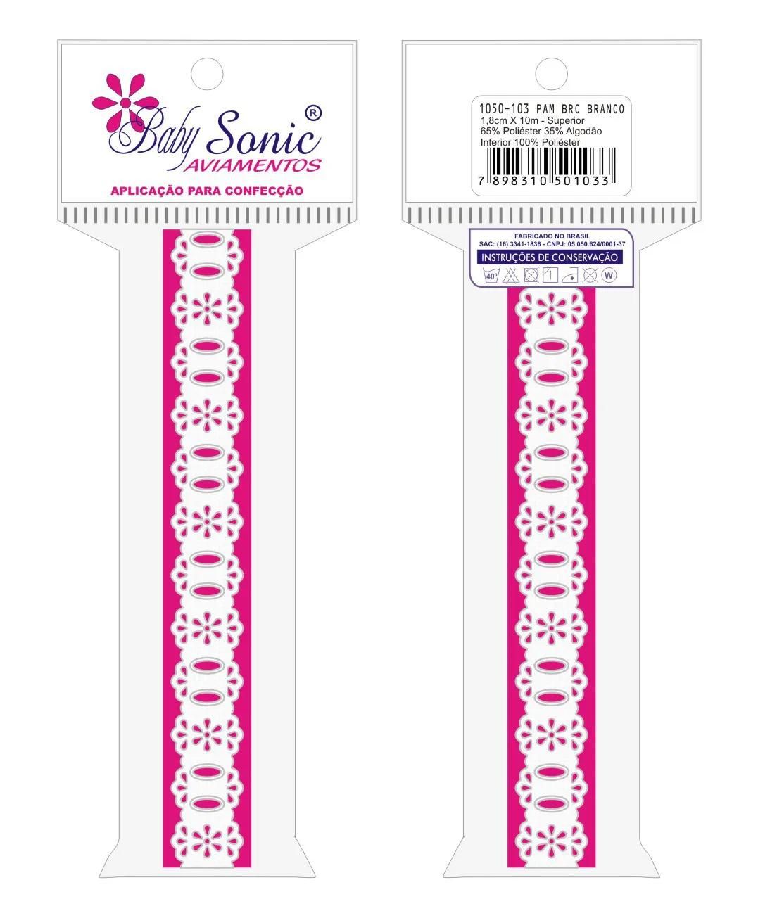1050 Passa Fita 1,8cm X 10m  - Baby Sonic Aviamentos