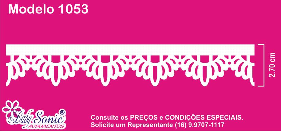 1053-103 Bordado Inglês 2,7cm X 10m KIT c/10un Branco PAB