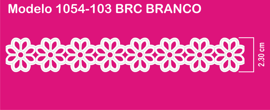 1054-103 PAB Bordado Sonic 2,30cm X 10m c/10un BRANCO  - Baby Sonic Aviamentos