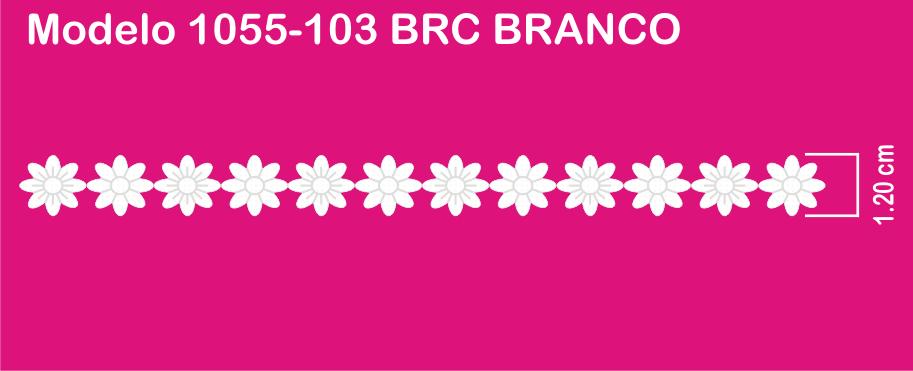 1055-103 PAB Bordado Sonic 1,20cm X 75un c/10un BRANCO  - Baby Sonic Aviamentos