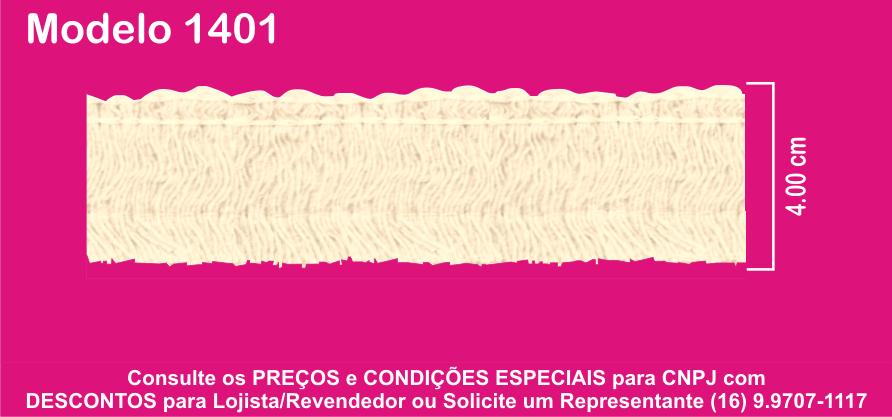 1401 FRJ Franja Marabu 4,00cm X 10m  - Baby Sonic Aviamentos