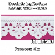 1000 Bordado Inglês 6cm X 10m - Cores