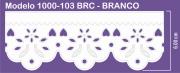 1000 POM Bordado Sonic 6,00cm X 10m - Cor Branco