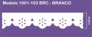 1001 POM Bordado Sonic 3,20cm X 10m - Cor Branco