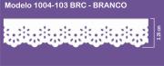 1004 POM Bordado Sonic 3,20cm X 10m - Cor Branco