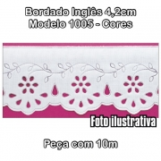 1005 Bordado Inglês 4,2cm X 10m - Cores