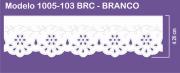1005 POM Bordado Sonic 4,20cm X 10m - Cor Branco