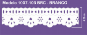 1007 POM Bord. c/Passa F. Sonic 4,20cm X 10m - Cor Branco