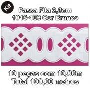 1016 Passa Fita 2,3cm X 10m KIT c/10un Branco PAM