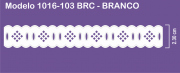 1016 POM Passa Fita Sonic 2,30cm X 10m - Cor Branco