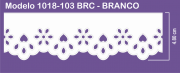 1018 POM Bordado Sonic 4,80cm X 10m - Cor Branco