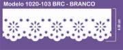1020 POM Bordado Sonic 4,80cm X 10m - Cor Branco