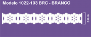 1022 POM Passa Fita Sonic 2,30cm X 10m - Cor Branco