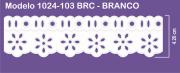 1024 POM Bord. c/Passa F. Sonic 4,20cm X 10m - Cor Branco