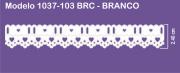 1037 POM Bord. c/Passa F. Sonic 2,40cm X 10m - Cor Branco