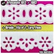 Bordado Inglês + Passa Fita + Fita nº. 1 - Kit Artesanato 1002+1012+2001