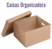 Caixa Organizadora com Tampa - 22x31,5x45 - Capacidade p/20 Pac. de Papel A4