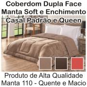 Coberdrom Dupla Face Casal Padrão e Queen Size Manta Soft Cores