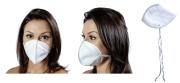 Mascara Descartavel TNT Branco Tipo N95 Com 100 Unidades