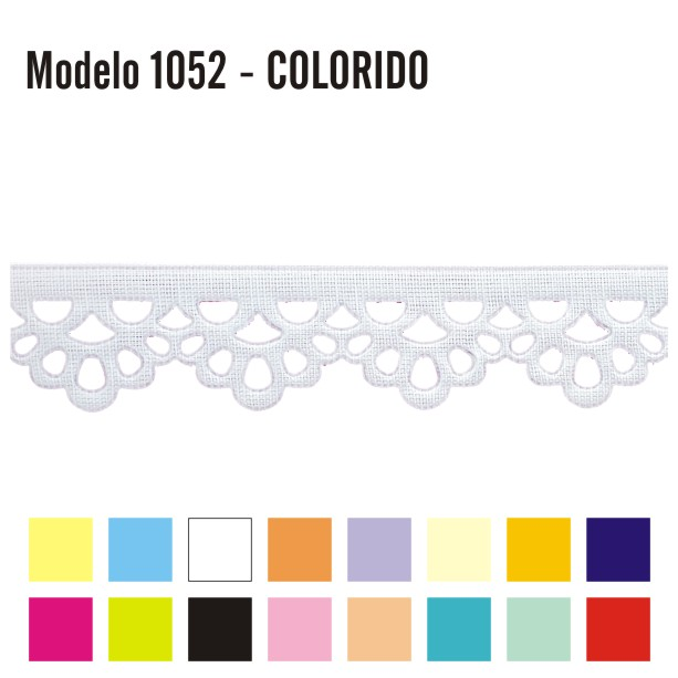 Bordado Inglês 2,3cm x 10m 1052 Colorido
