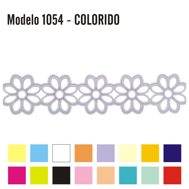 Aplicação Entremeio 2,3cm x 10m 1054 Colorido
