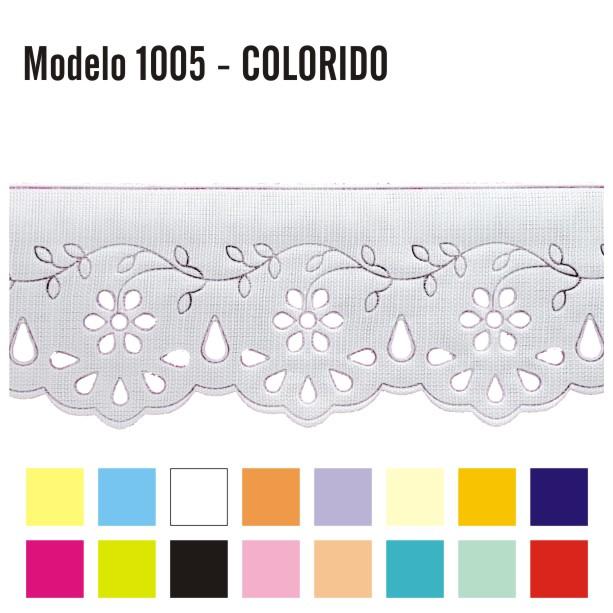 Bordado Inglês 4,2cm X 10m 1005 - Colorido