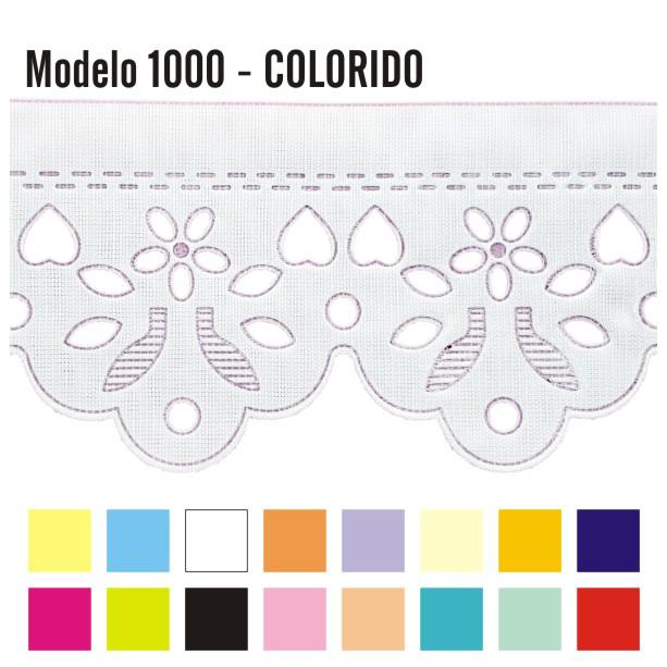 Bordado Inglês 6cm X 10m 1000 Colorido