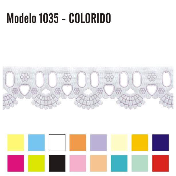 Bordado Inglês com Passa Fita 2,4cm X 10m 1035 Colorido