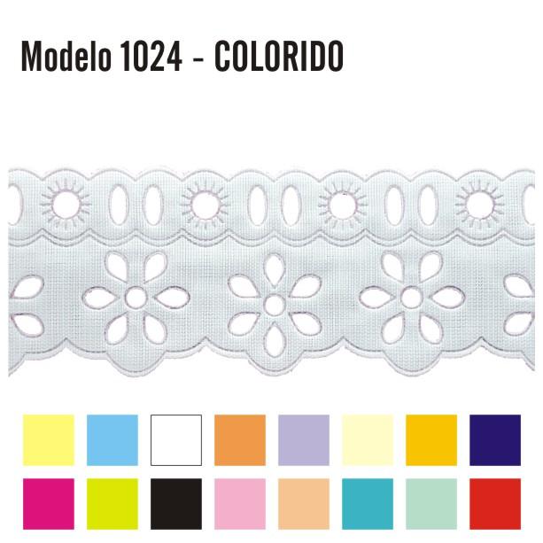 Bordado Inglês com Passa Fita 4,2cm X 10m 1024 Colorido