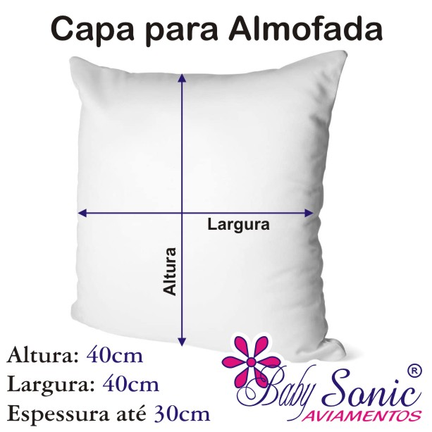 Capa de Almofada Kit 4 Peças 40cm X 40cm Cor 04  - Baby Sonic Aviamentos