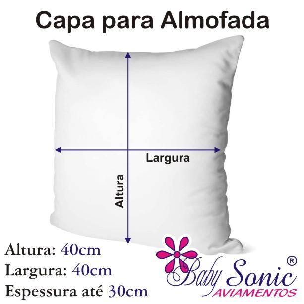 Capa de Almofada Kit 4 Peças 40cm X 40cm Diversas Cores e Estampas  - Baby Sonic Aviamentos