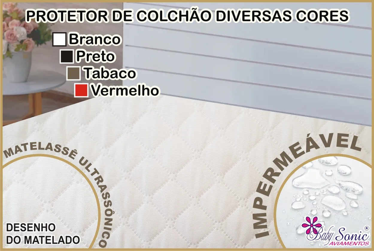 Capa De Colchão Impermeável Matelado Casal 200 Fios  - Baby Sonic Aviamentos