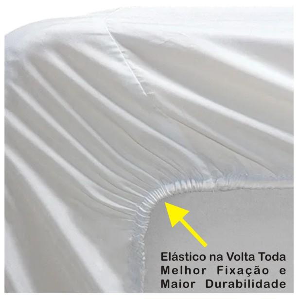 Capa de Colchão Protetor Impermeável Microfibra Casal Padrão CORES  - Baby Sonic Aviamentos