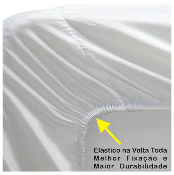 Capa de Colchão Protetor Impermeável Microfibra Solteiro CORES  - Baby Sonic Aviamentos