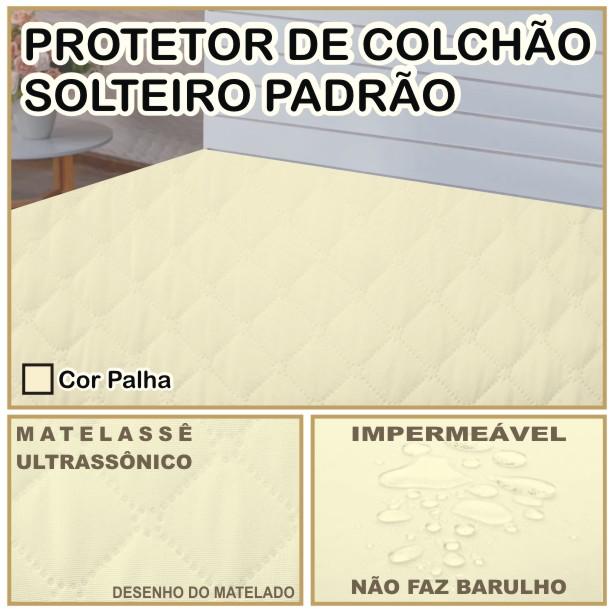 Capa de Colchão Protetor Impermeável Microfibra Solteiro Palha  - Baby Sonic Aviamentos