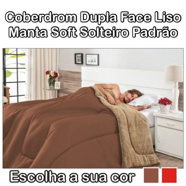 Coberdrom Solteiro Dupla Face Manta Soft - 2,40m x 1,80m
