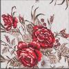 3205 Estampado Rosas Vermelho/Marrom
