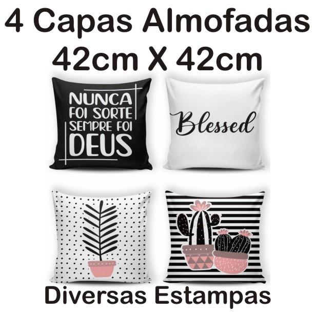 Kit 4 Capas de Almofada Percal 42cm X 42cm