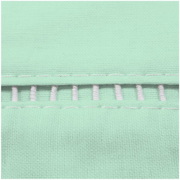 Lençol Solteiro + Fronha Ponto Palito Percal 100% Alg. Verde Clr  - Baby Sonic Aviamentos