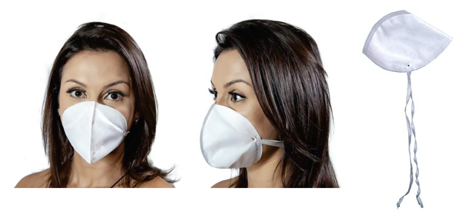 Mascara Descartavel TNT Branco Tipo N95 Com 100 Unidades  - Baby Sonic Aviamentos