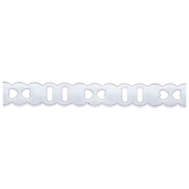 Passa Fita 1,4cm X 10m 1009-103 Branco - Kit 10 unidades