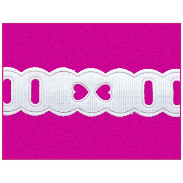 Passa Fita 1,4cm X 10m Branco 1009-103  - Baby Sonic Aviamentos