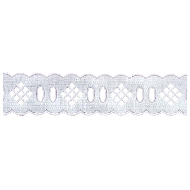 Passa Fita 2,3cm X 10m 1016-103 Branco -  Kit 10 unidades