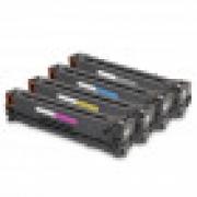 Kit com 4 Cartuchos de Toner Compatível com HP CE-320A, CE320AB CE-320AB, CE-321A, CE321AB CE-321AB, CE-322A, CE322AB CE-322AB, CE-323A, CE323AB CE-323AB Cartucho & Cia