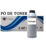 Pó De Toner Lexmark MS e MX Séries 1 kg Black - Cartucho & Cia